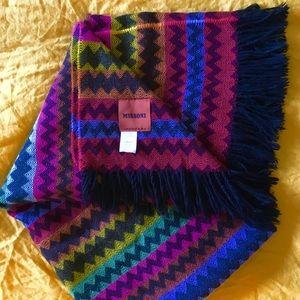 Missoni Blanket Throw Multicolored Chevron Stripe